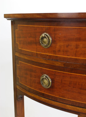 Edwardian Mahogany Corner Chest Drawers