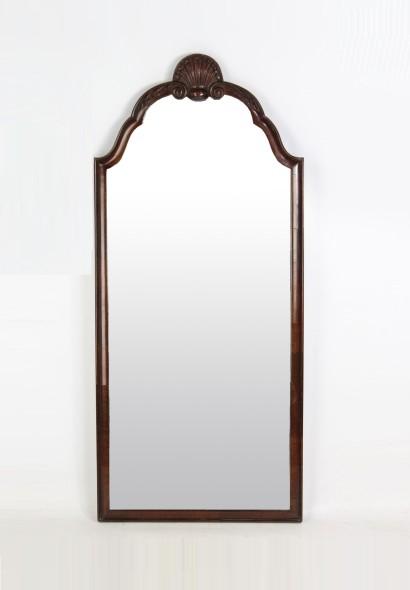 1920s Mahogany Wall Mirror