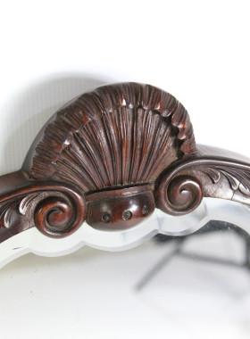 1920s Mahogany Mirror