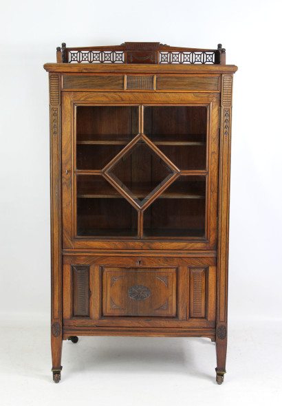 Victorian Rosewood Music Cabinet