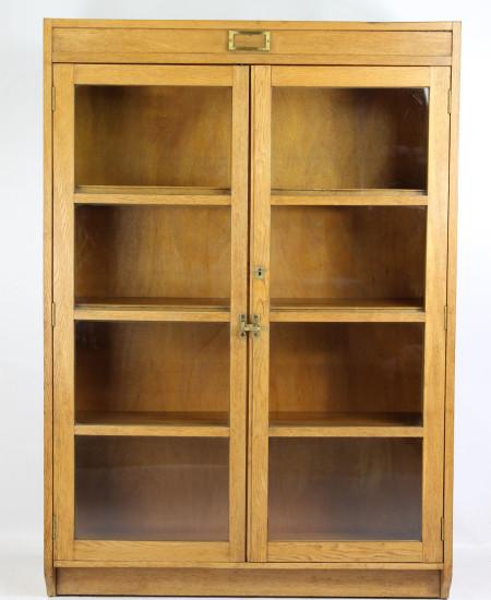 Tall Vintage Oak Bookcase