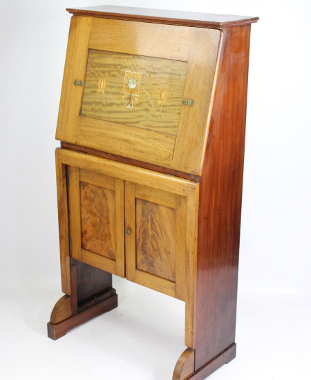 Arts Crafts Mahogany Bureau