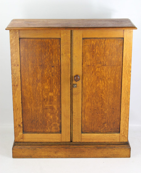 Victorian Oak School Cupboard