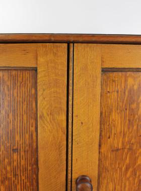 Victorian Oak School Cupboard