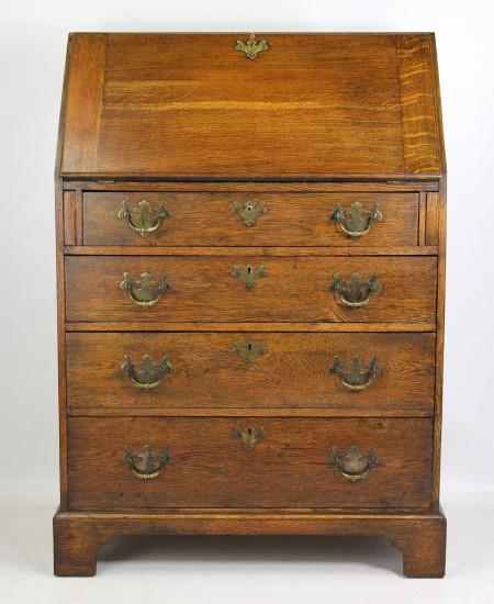 Small Edwardian Oak Bureau