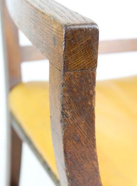 Antique X Frame Oak Desk Chair