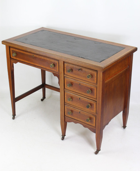 Edwardian Mahogany Inlaid Desk