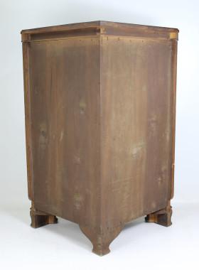 Vintage Walnut Standing Corner Cabinet