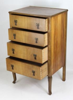 Small Art Deco Walnut Chest Drawers
