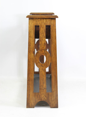 Arts & Crafts Oak Stick Stand