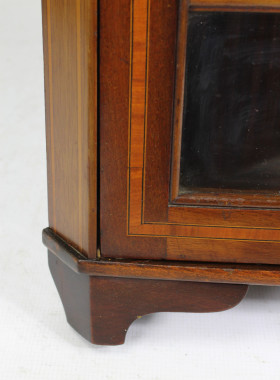 Edwardian Mahogany Inlaid Corner Cabinet