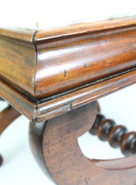 Victorian X-Frame Stool