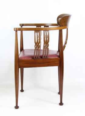 Arts and Crafts Mahogany Tub Chair