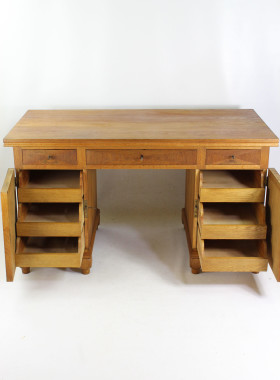 Vintage Oak Pedestal Desk