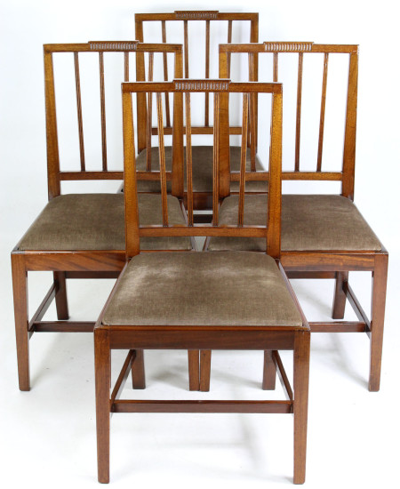 Set 4 Georgian Mahogany Dining Chairs