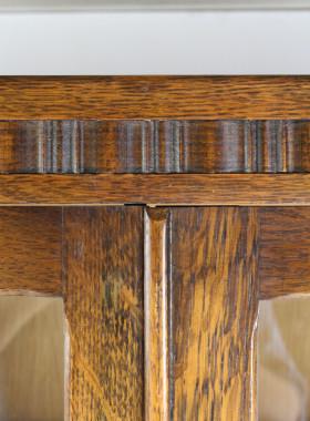 Tall 1930s Oak Bookcase