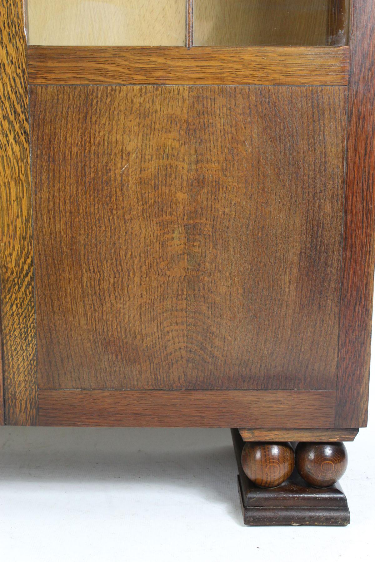 Tall Oak Bookcase Circa 1930s