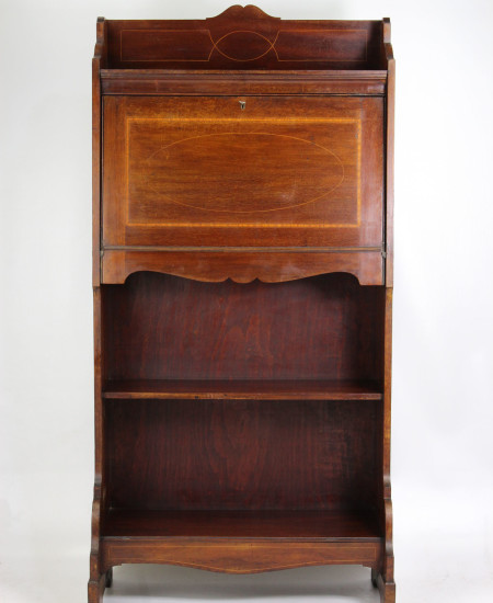 Slim Edwardian Mahogany Hall Bureau