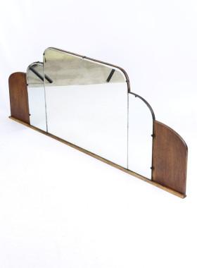 Art Deco Overmantle Mirror