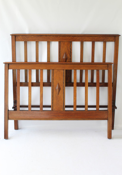 IMG_0385 Antique Edwardian Oak Double Ded £495