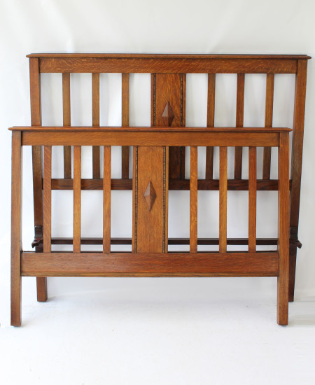 IMG_0385 Antique Edwardian Oak Double Ded £495