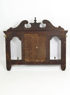 Victorian Gothic Hall Mirror with Hooks