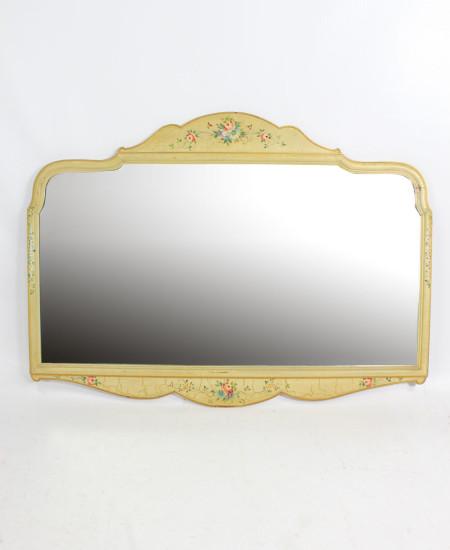 Vintage Floral Painted Mirror