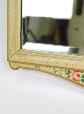 Vintage Floral Painted Mirror