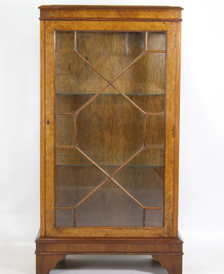 Vintage Walnut Display Cabinet