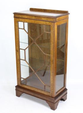 Vintage Walnut Display Cabinet