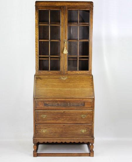 Oak Bureau Bookcase