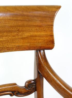 Victorian Scroll Arm Mahogany Desk Chair