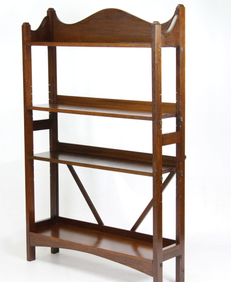 Edwardian Heals Oak Open Bookcase
