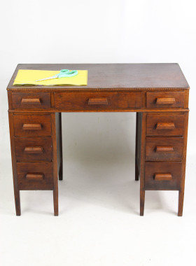 Childs Art Deco OAk Desk