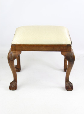 Art Deco Walnut Stool