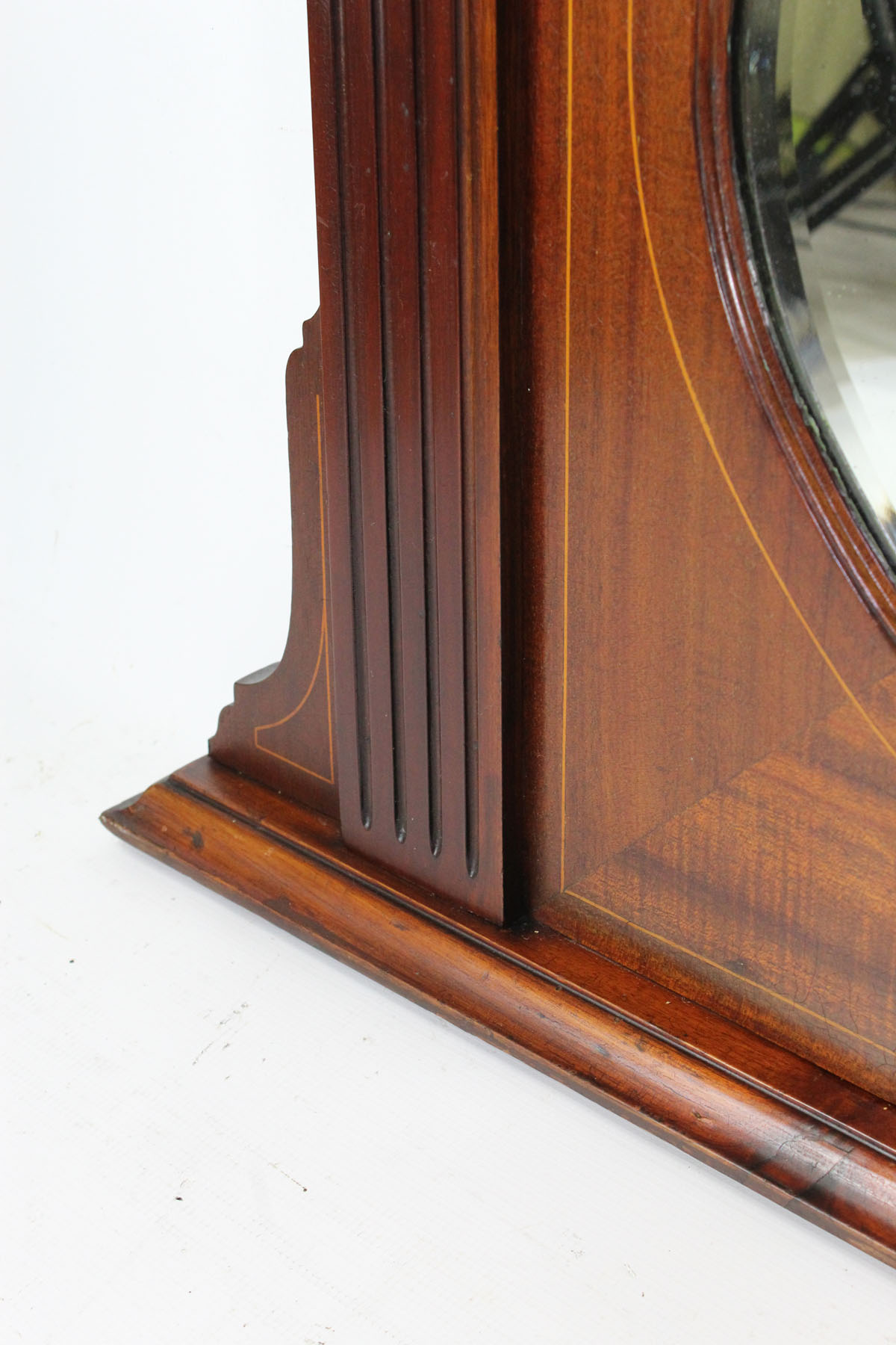 Antique Edwardian Mahogany Overmantle Mirror