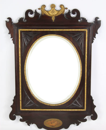 Edwardian Chippendale Fretwork Mirror