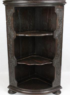 Victorian Oak Standing Corner Cupboard