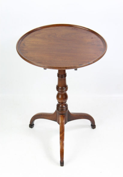 Georgian Mahogany Tilt Top Tripod Wine Table