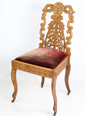 Antique Carved Oak Chairs