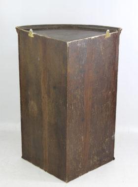 Georgian Inlaid Mahogany Bow Front Corner Cupboard