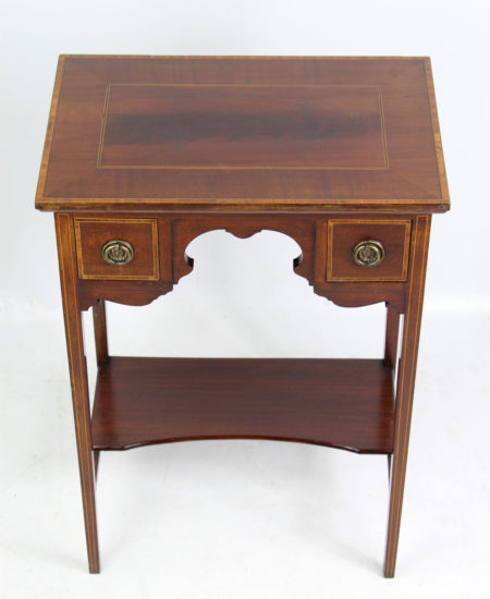 Edwardian Inlaid Mahogany Side Table
