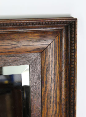 Large Edwardian Oak Mirror