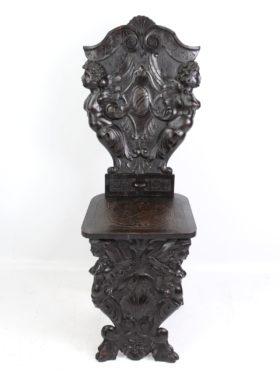 Antique Sgabello Hall Chair
