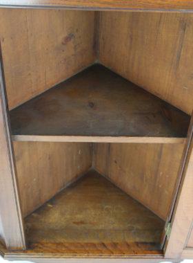 Victorian Walnut Corner Cupboard