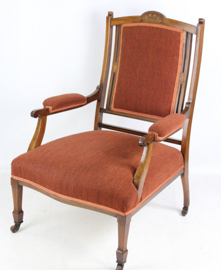 Edwardian Inlaid Rosewood Armchair