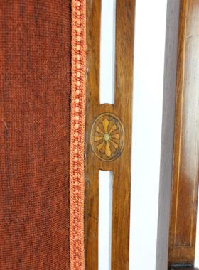 Edwardian Inlaid Rosewood Armchair