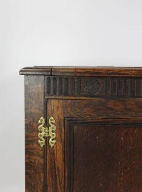 1920s Oak Coffer TV Cabinet
