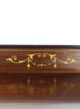 Slim Edwardian Arts Crafts Display Cabinet