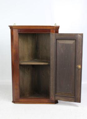 Small Gothic Revival Mahogany Corner Cupboard